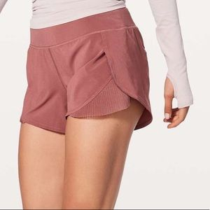 Lululemon Play Off the Pleats Rose Pink Shorts